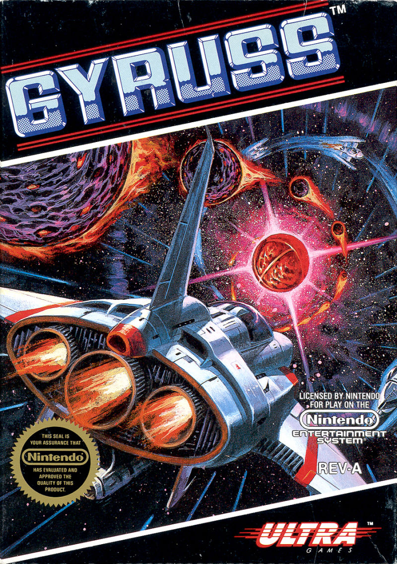 Gyruss NES Front Cover