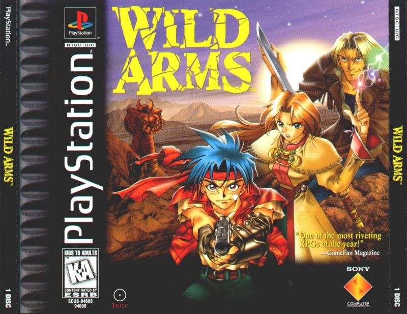 Wild Arms PlayStation Front Cover