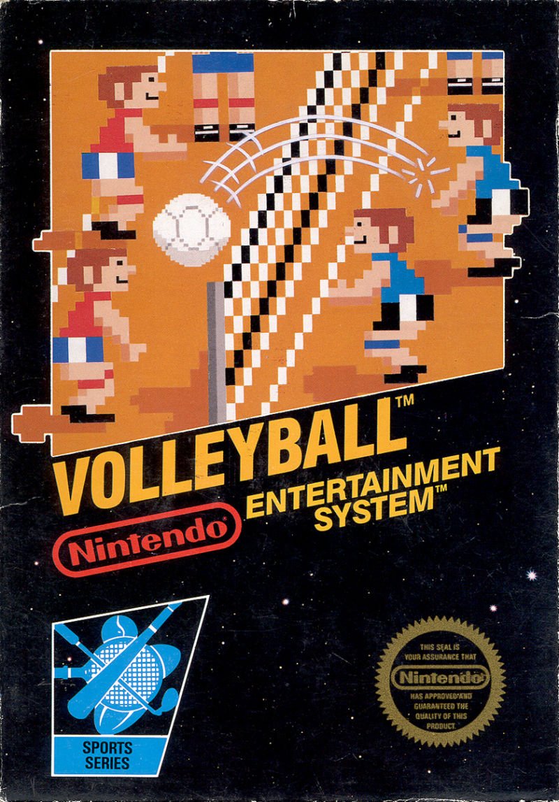 Volleyball NES Front Cover