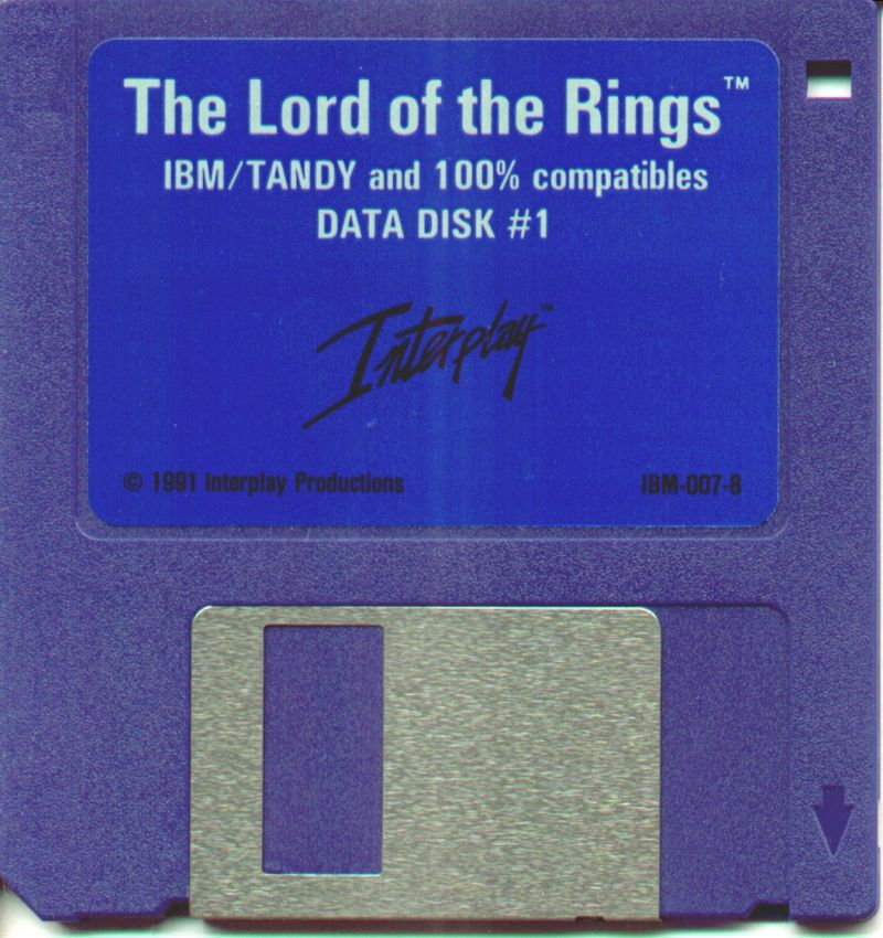 J.R.R. Tolkien's The Lord of the Rings, Vol. I DOS Media Disk 1/3