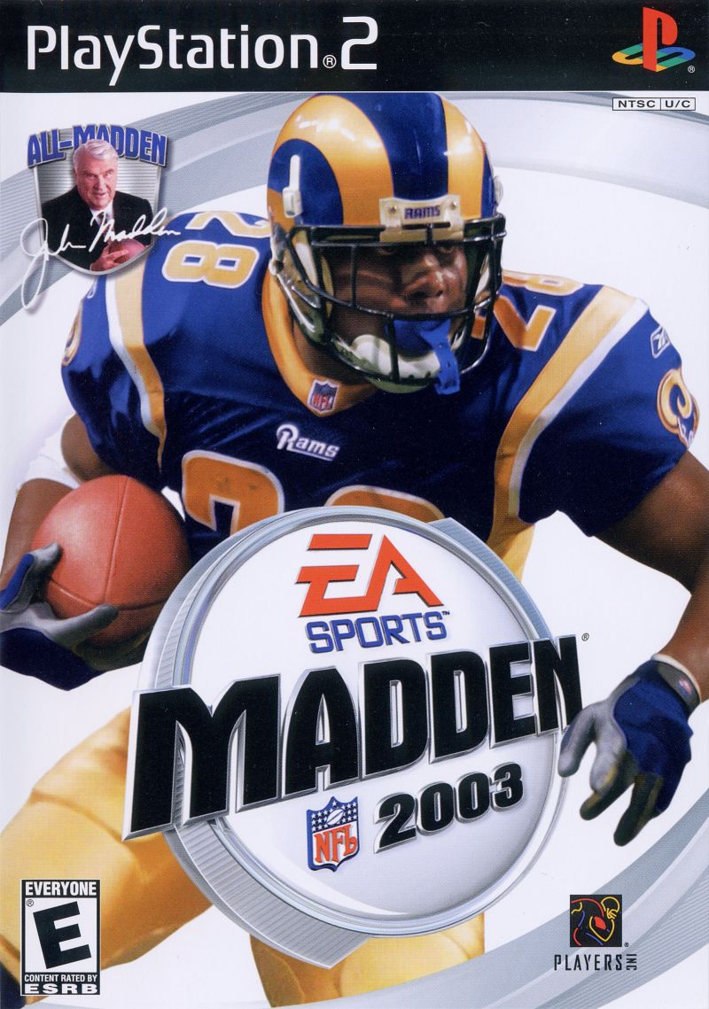 Madden NFL 2003 PlayStation 2 Front Cover