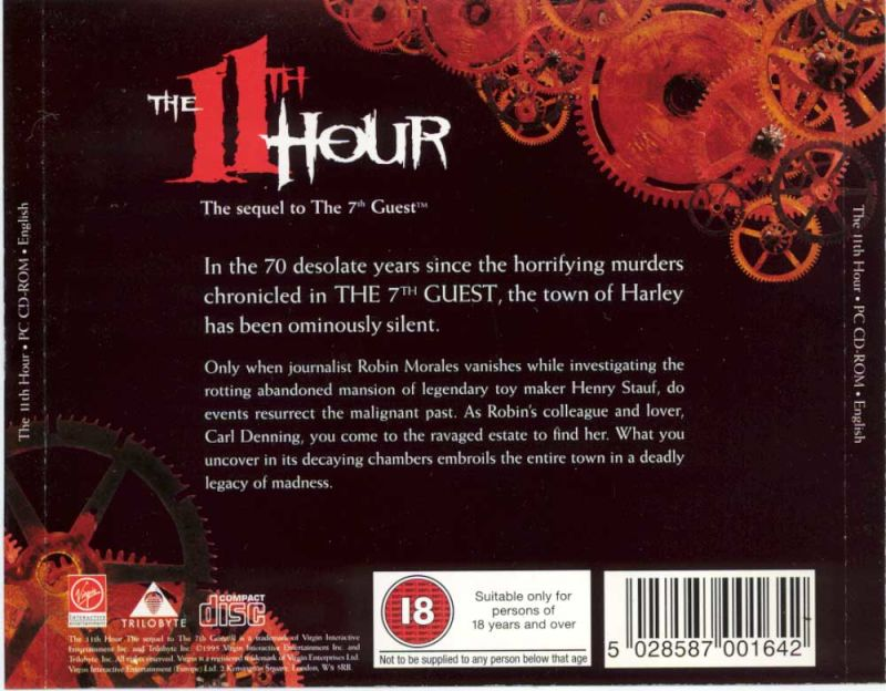 The 11th Hour DOS Other Jewel Case - Back