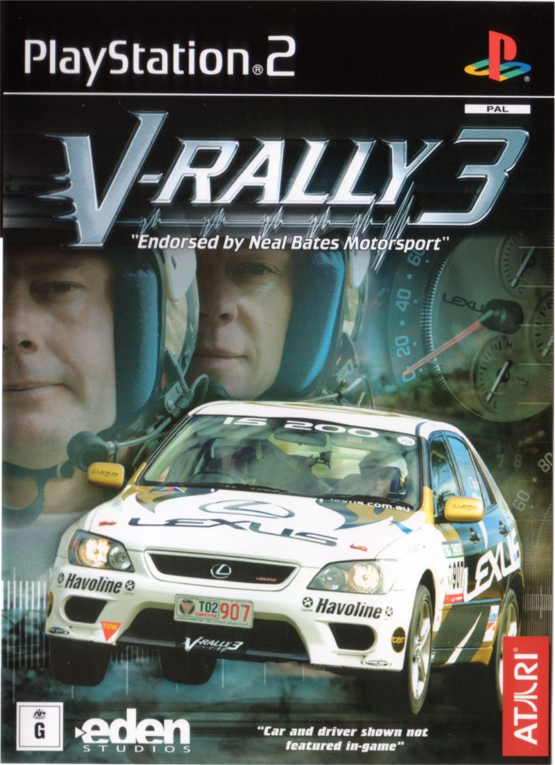 Rally 3 PlayStation 2 Front Cover