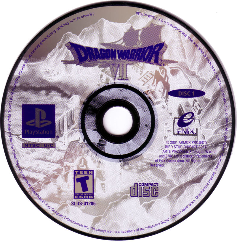 Dragon Warrior VII PlayStation Media Disc 1