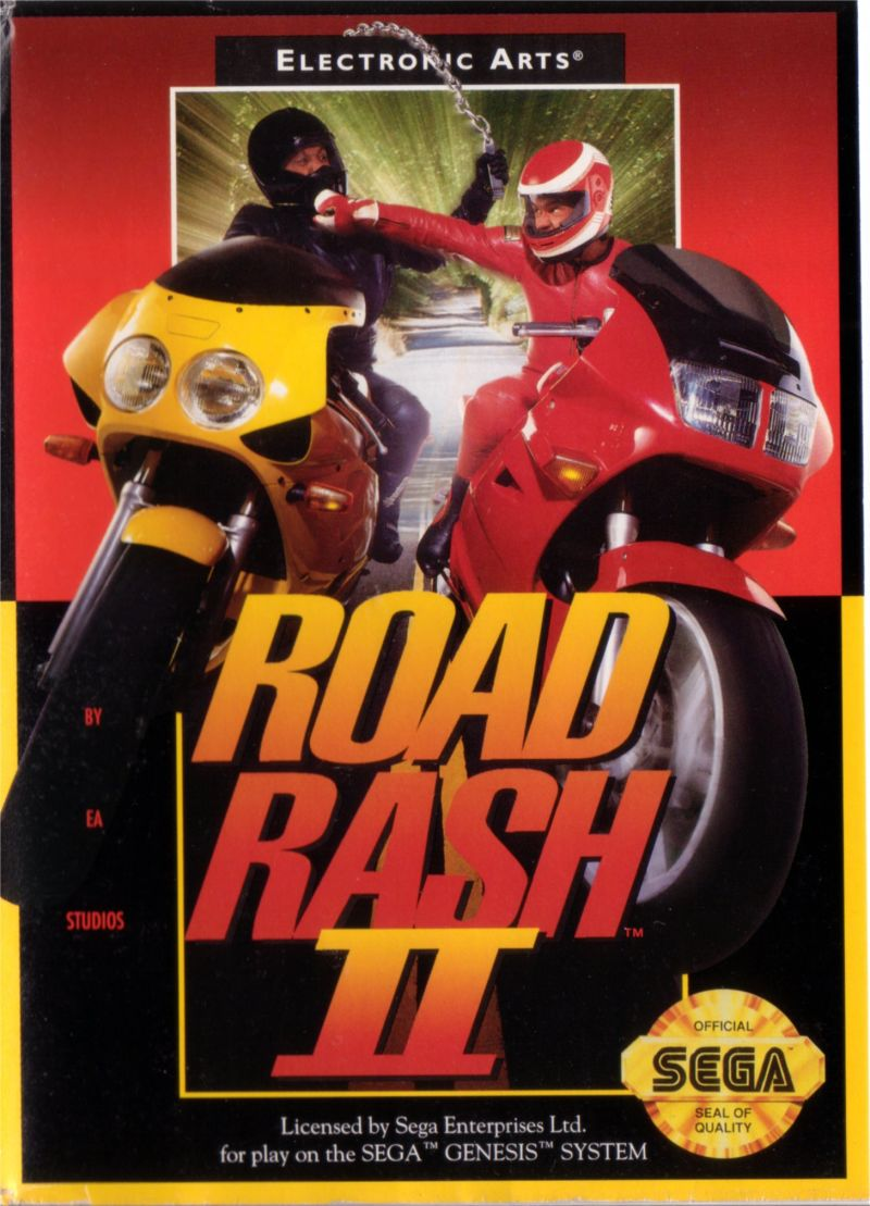 Road Rash II Genesis Front Cover