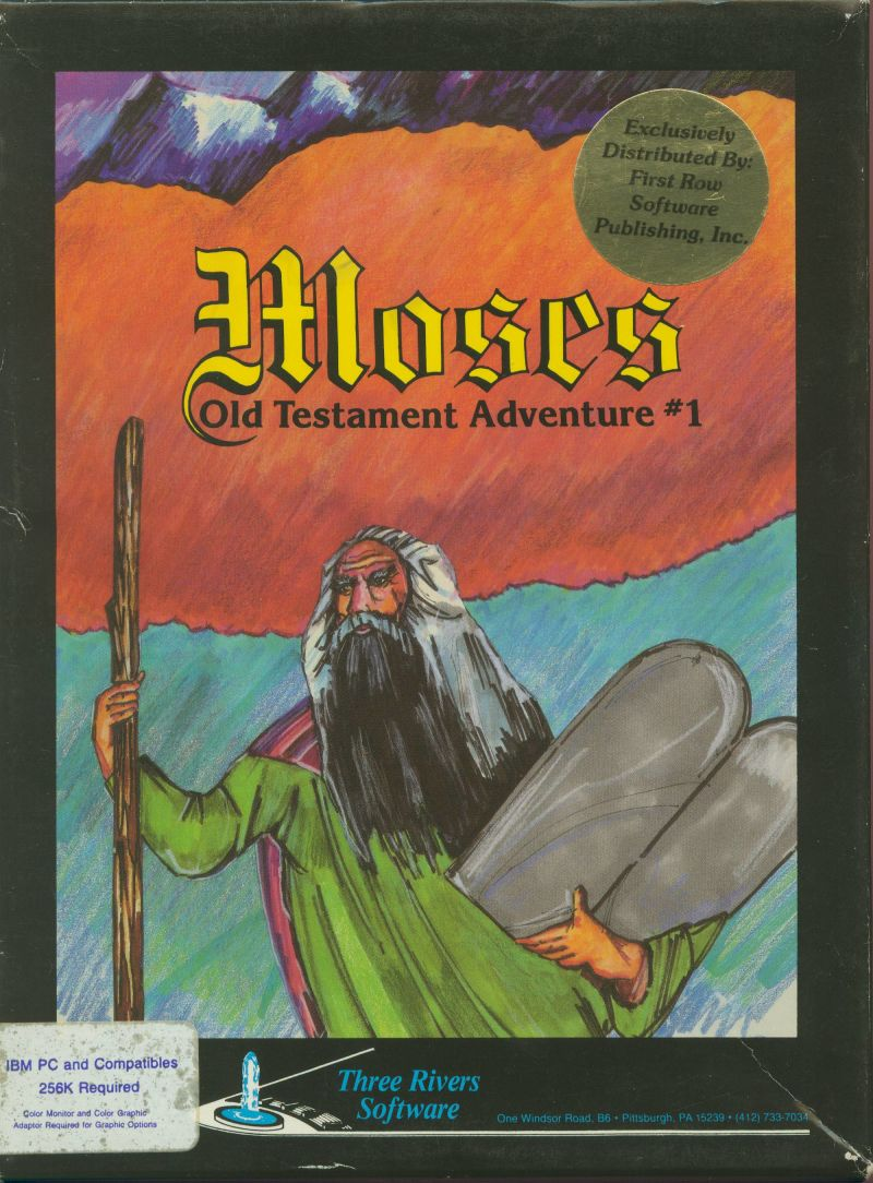 Moses: Old Testament Adventure #1 DOS Front Cover