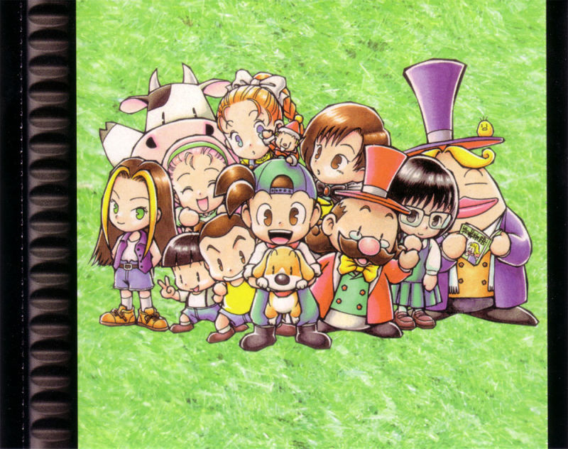 Harvest Moon: Back to Nature PlayStation Inside Cover Inlay