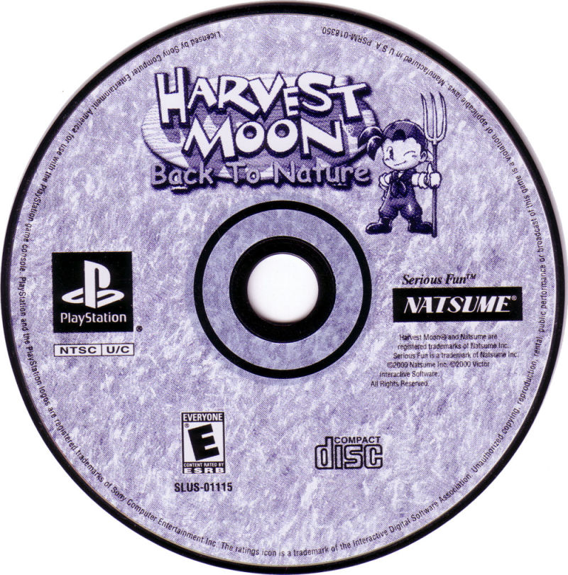 Harvest Moon: Back to Nature PlayStation Media