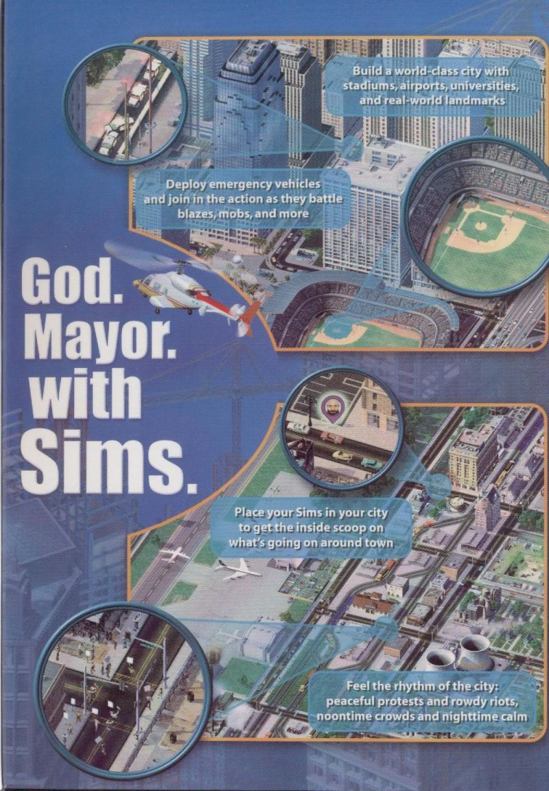 SimCity 4 Windows Inside Cover Right Flap