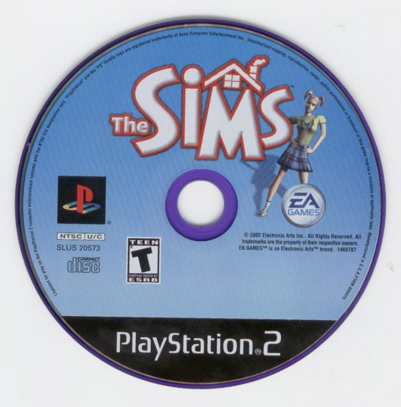 The Sims PlayStation 2 Media