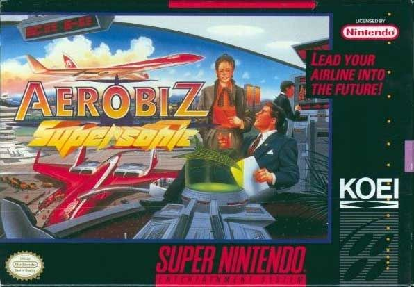 Aerobiz Supersonic SNES Front Cover