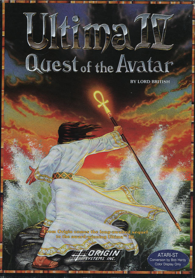Ultima IV: Quest of the Avatar Atari ST Front Cover
