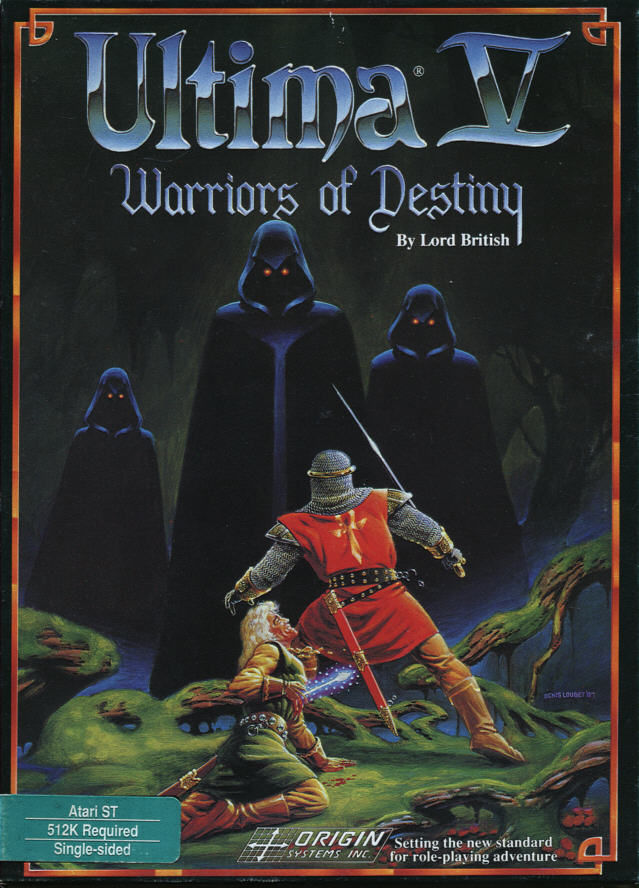Ultima V: Warriors of Destiny Atari ST Front Cover