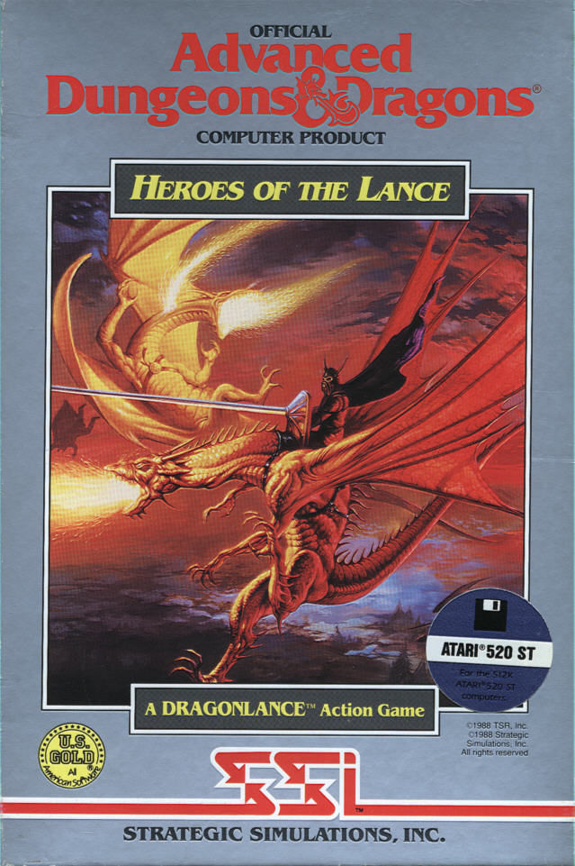 Heroes of the Lance Atari ST Front Cover