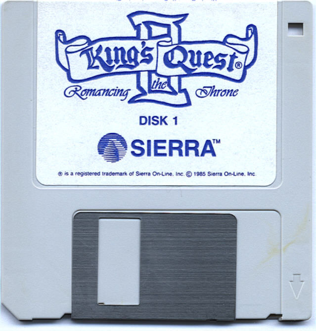 King's Quest II: Romancing the Throne Atari ST Media Disk 1/2