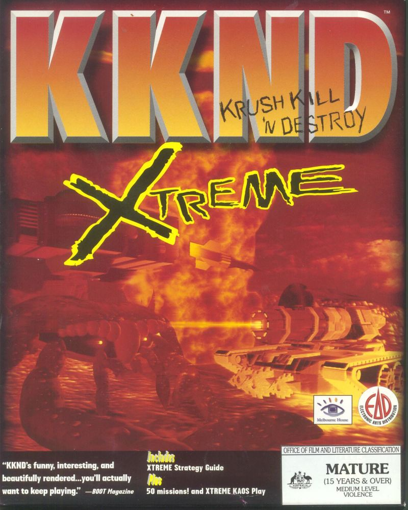 KKND: Krush Kill 'n Destroy Xtreme Windows Front Cover