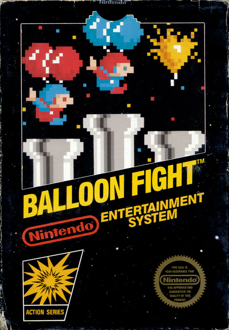 Balloon Fight NES Front Cover
