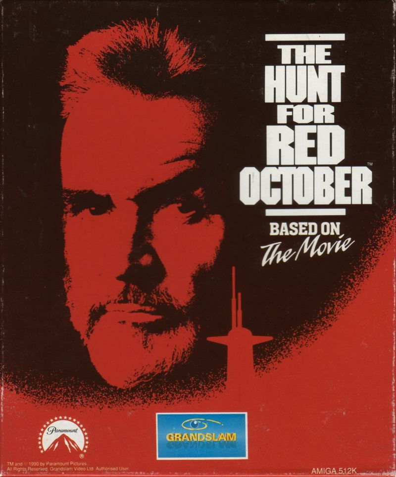 The Hunt for Red October Amiga Front Cover