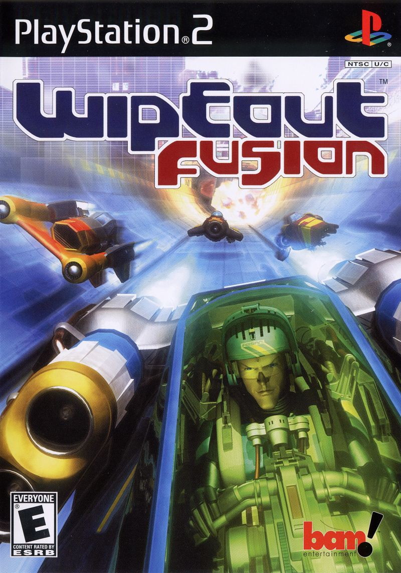 WipEout Fusion PlayStation 2 Front Cover
