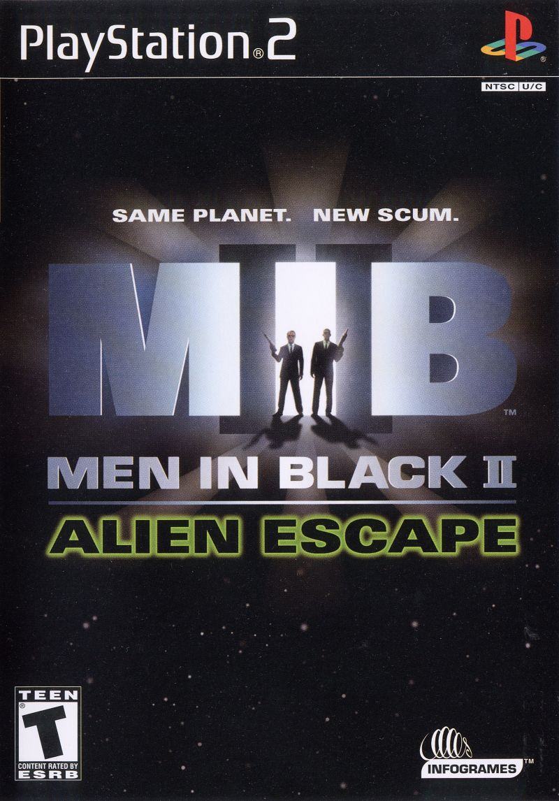 Men in Black II: Alien Escape PlayStation 2 Front Cover