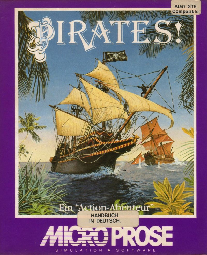 Sid Meier's Pirates! Atari ST Front Cover