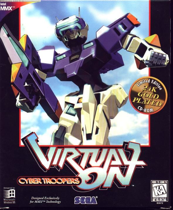 Cyber Troopers Virtual On Windows Front Cover