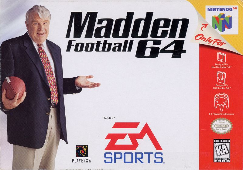 Madden Football 64 Nintendo 64 Front Cover