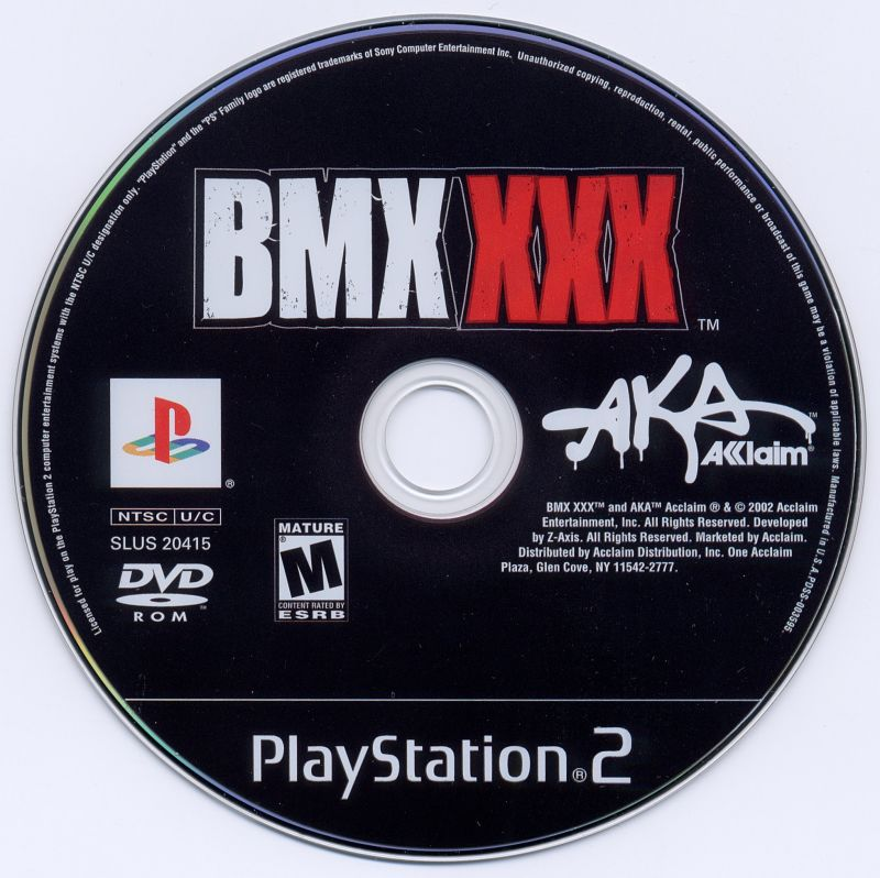 BMX XXX PlayStation 2 Media