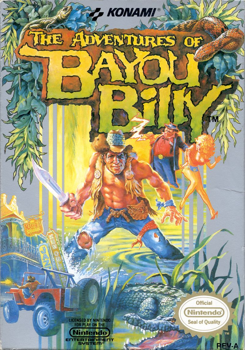 The Adventures Of Bayou Billy 1988 Nes Box Cover Art