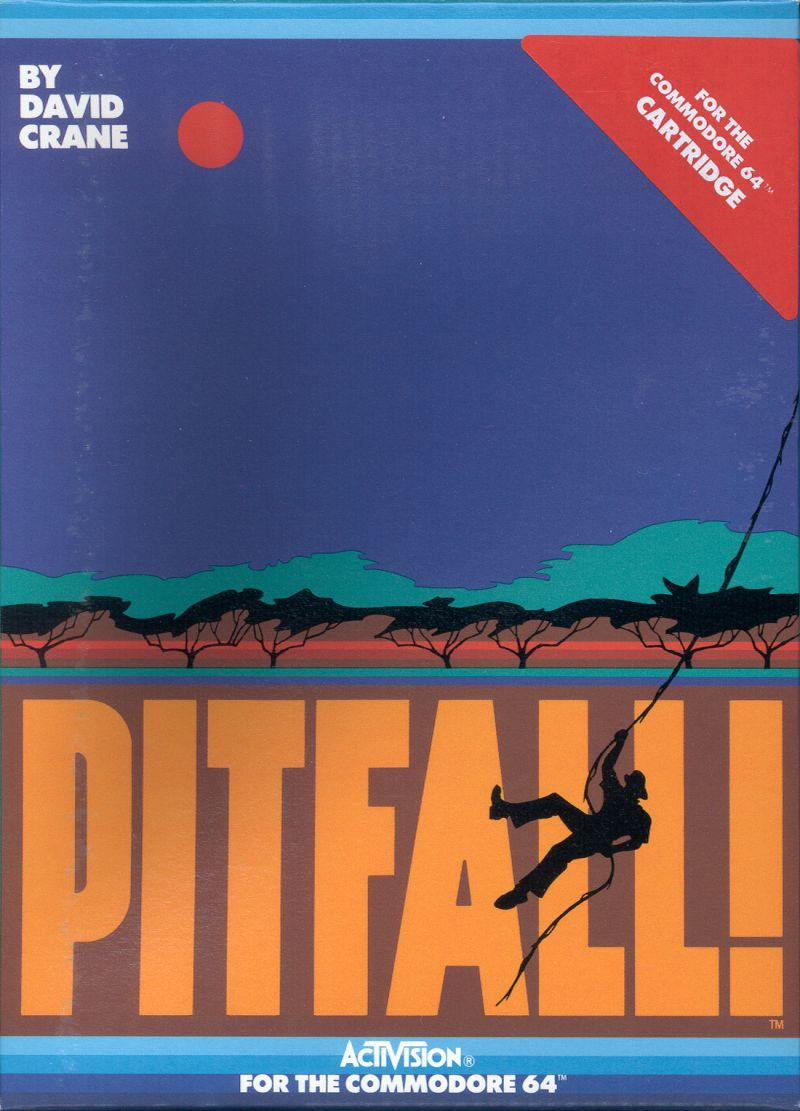 Pitfall! Commodore 64 Front Cover