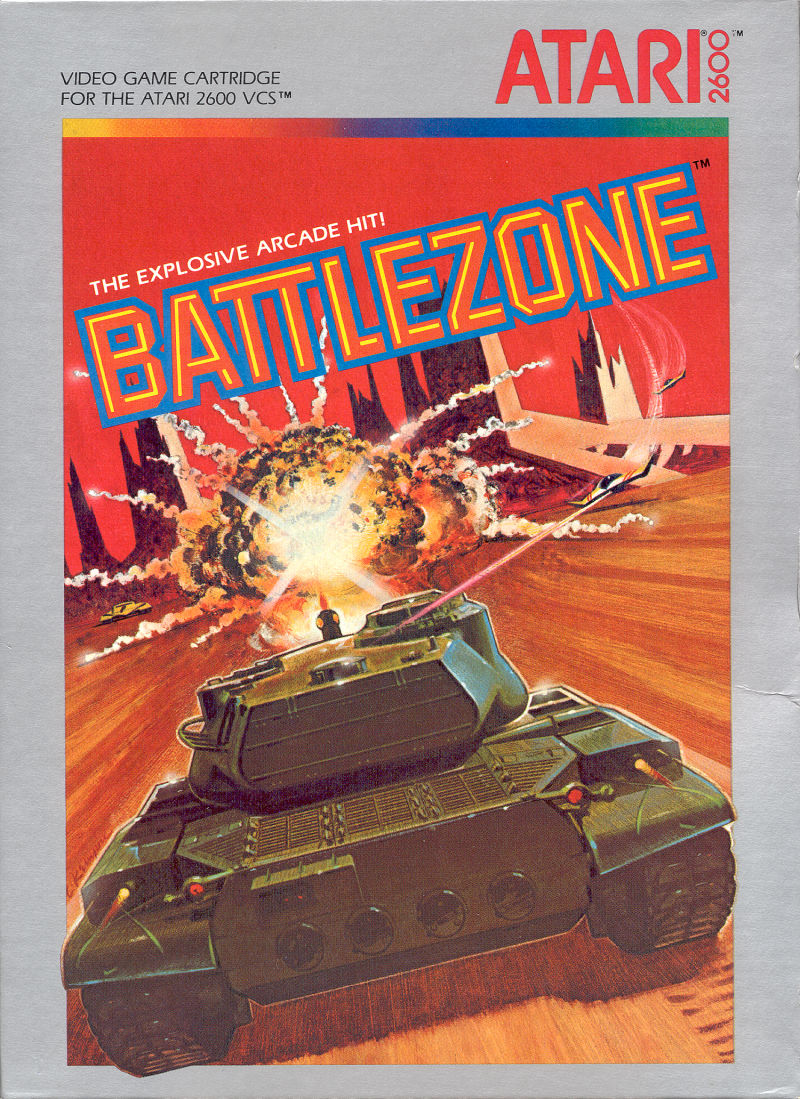 Battlezone Atari 2600 Front Cover