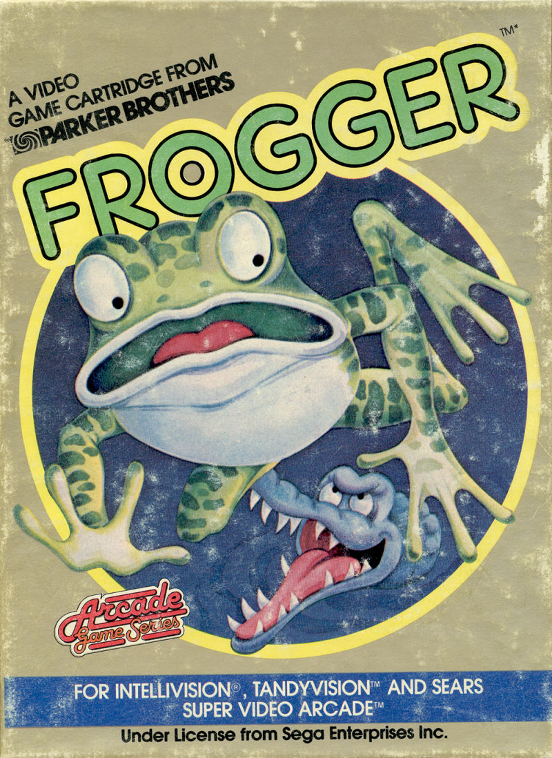 Frogger Intellivision Front Cover