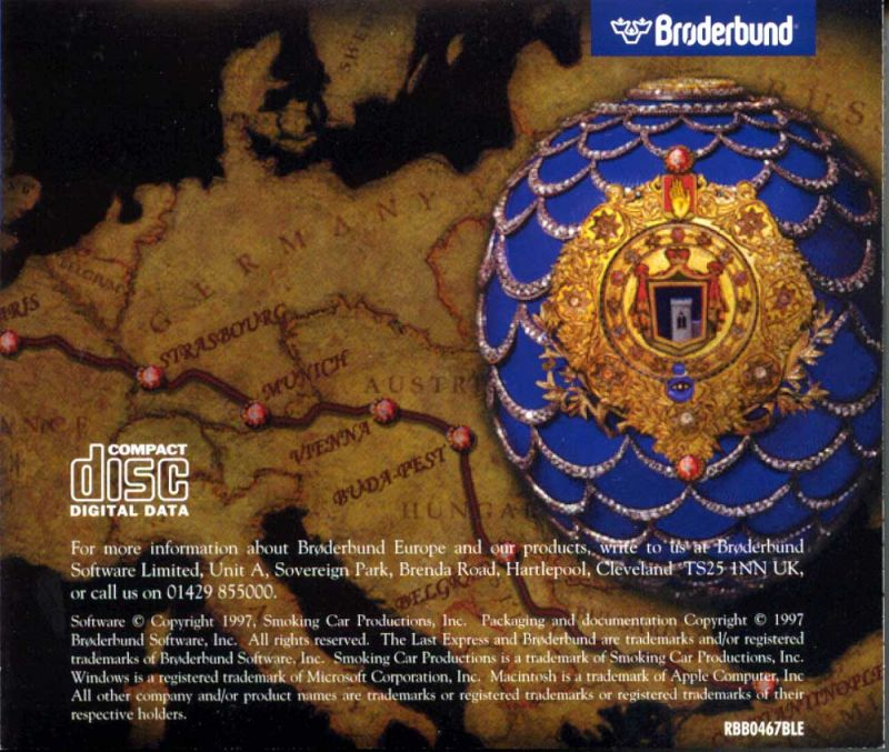The Last Express DOS Other Jewel Case - Back