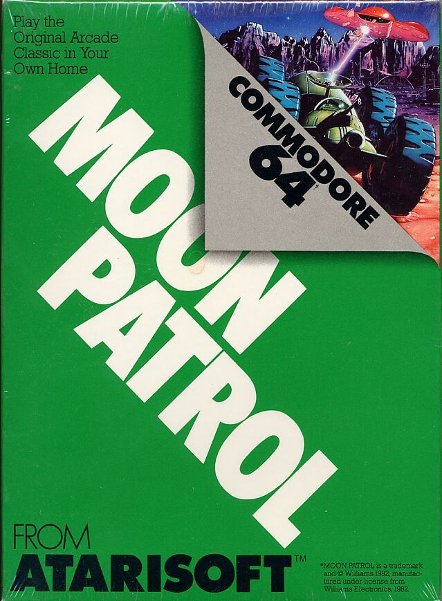 Moon Patrol Commodore 64 Front Cover