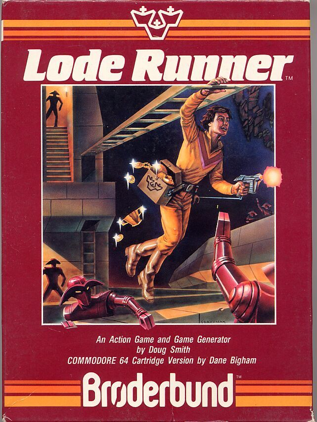 Lode Runner Commodore 64 Front Cover