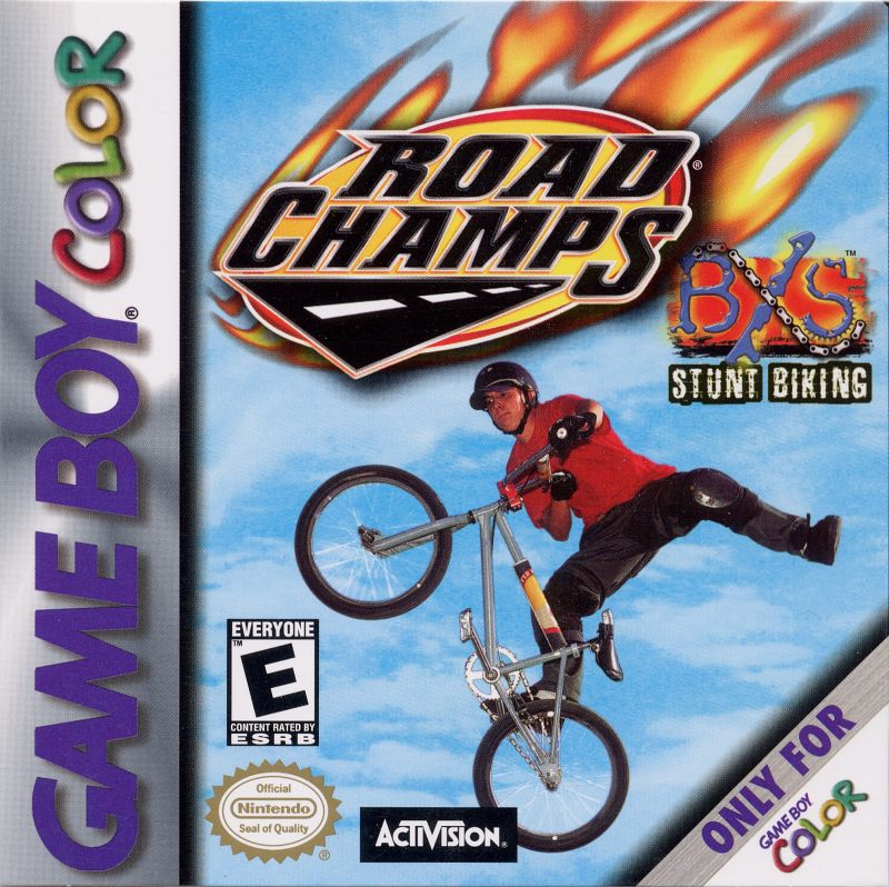 Road Champs: BXS Stunt Biking Game Boy Color Front Cover