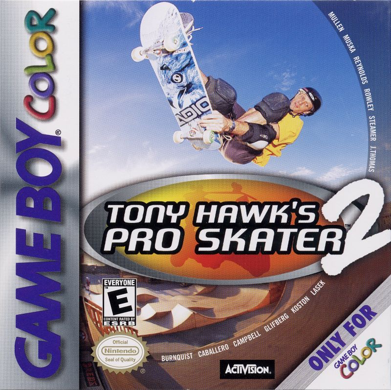 Tony Hawk's Pro Skater 2 Game Boy Color Front Cover