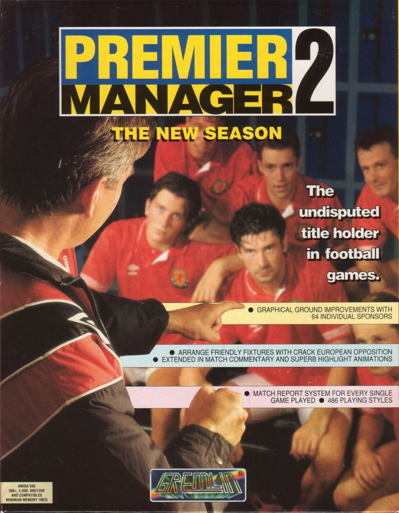Premier Manager 2 Amiga Front Cover