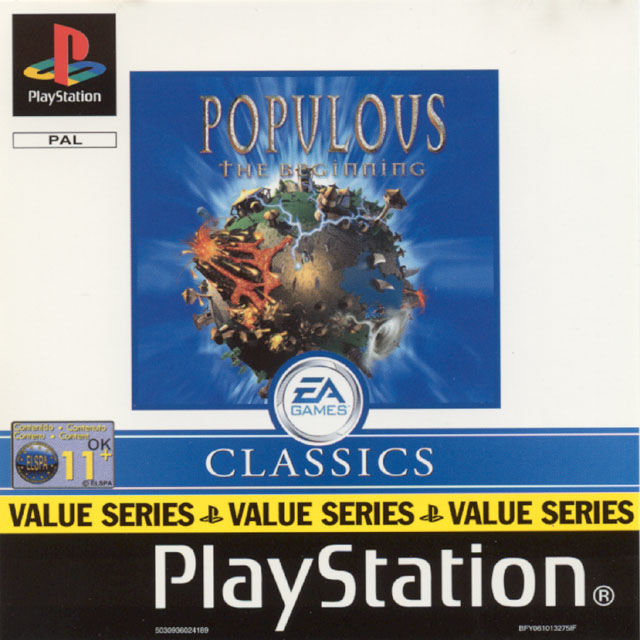 Populous: The Beginning PlayStation Front Cover EA Classic Packaging