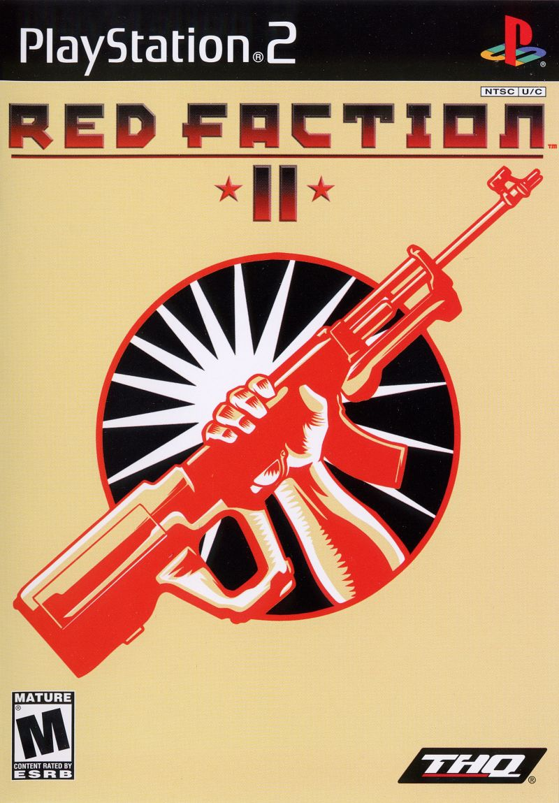 Red Faction II PlayStation 2 Front Cover