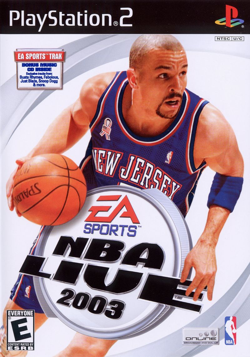 NBA Live 2003 PlayStation 2 Front Cover