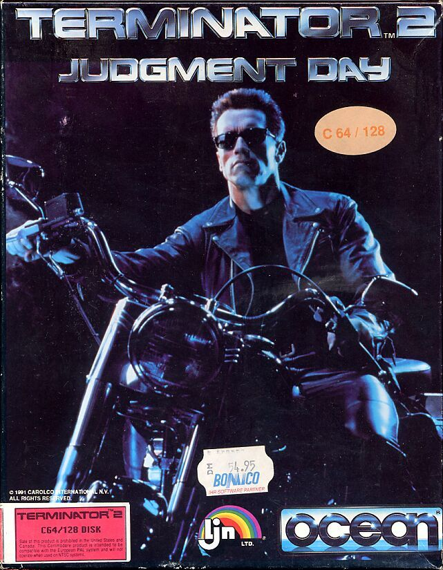 Terminator 2: Judgment Day Commodore 64 Front Cover