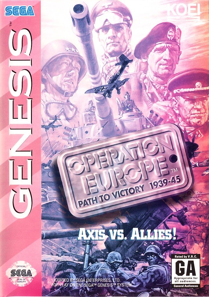 Operation Europe: Path to Victory 1939-45 Genesis Front Cover