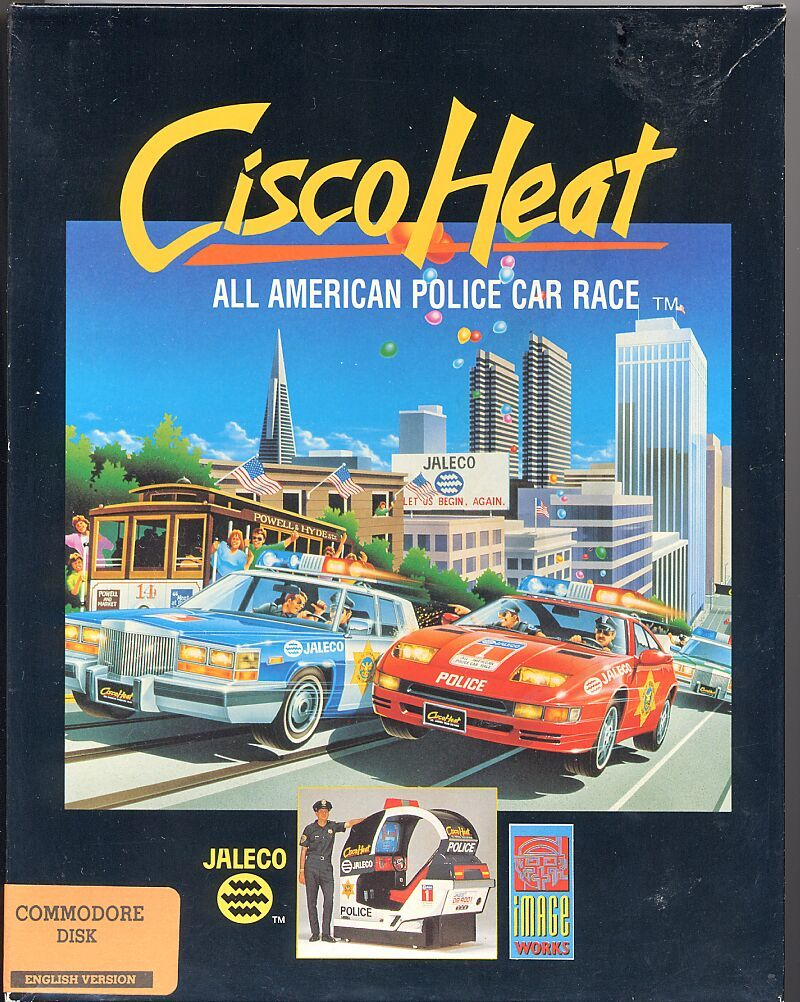 Cisco Heat: All American Police Car Race Commodore 64 Front Cover
