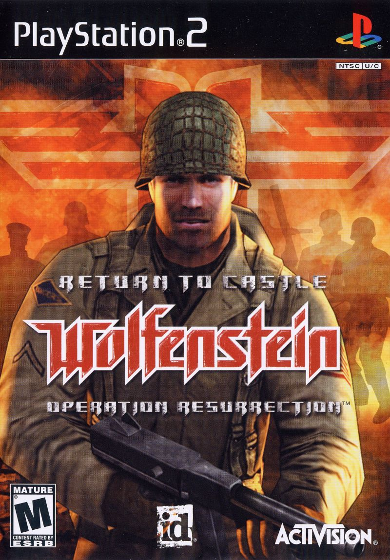 Return to Castle Wolfenstein: Operation Resurrection PlayStation 2 Front Cover