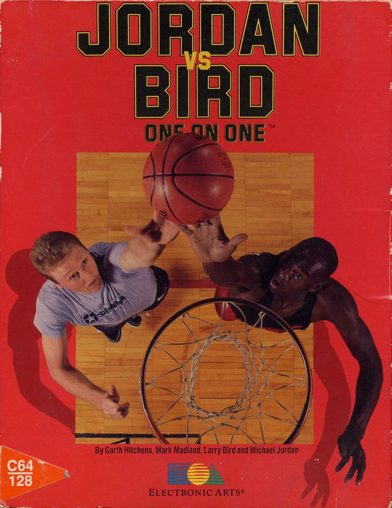 Jordan vs Bird: One on One Commodore 64 Front Cover