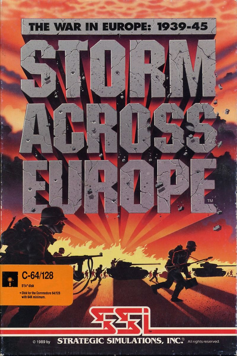 Storm Across Europe Commodore 64 Front Cover