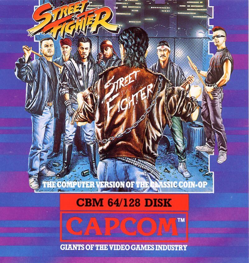 Street Fighter Commodore 64 Front Cover