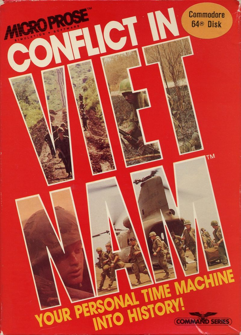 Conflict in Vietnam Commodore 64 Front Cover