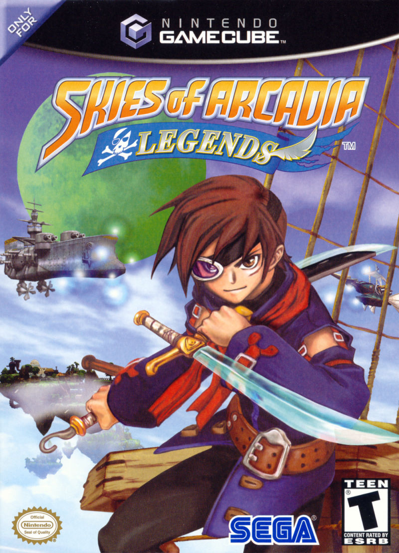 Skies of Arcadia: Legends GameCube Front Cover